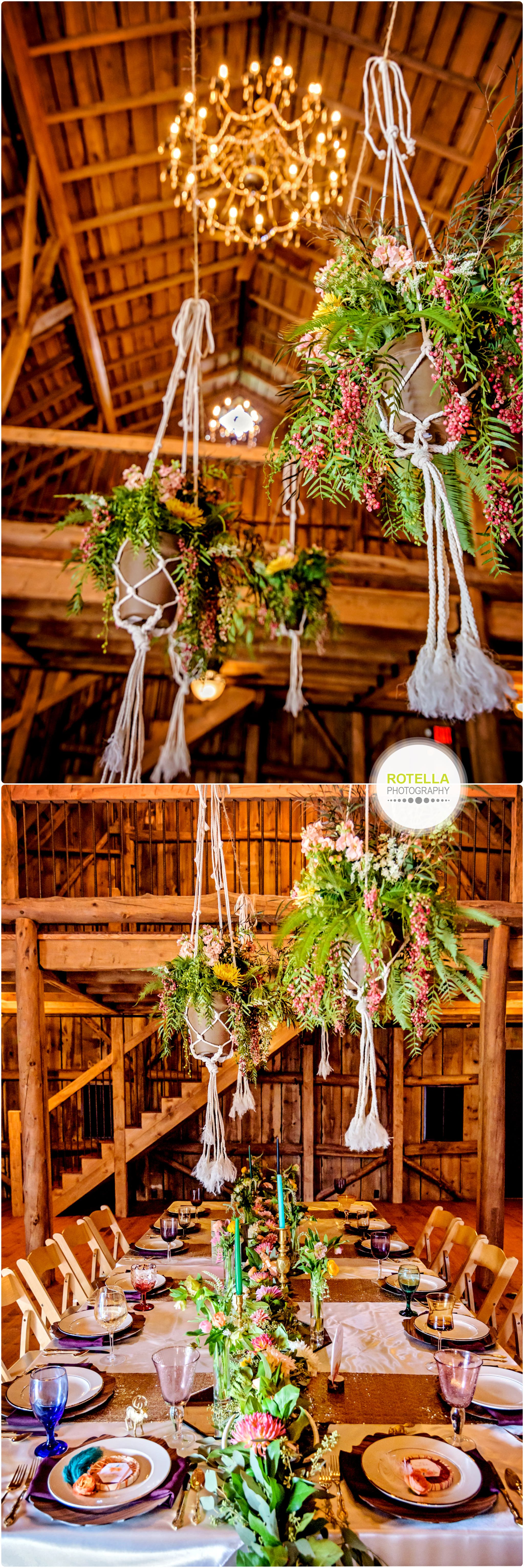 Ceremony inside barn at Rolling Ridge Wedding and Event Center