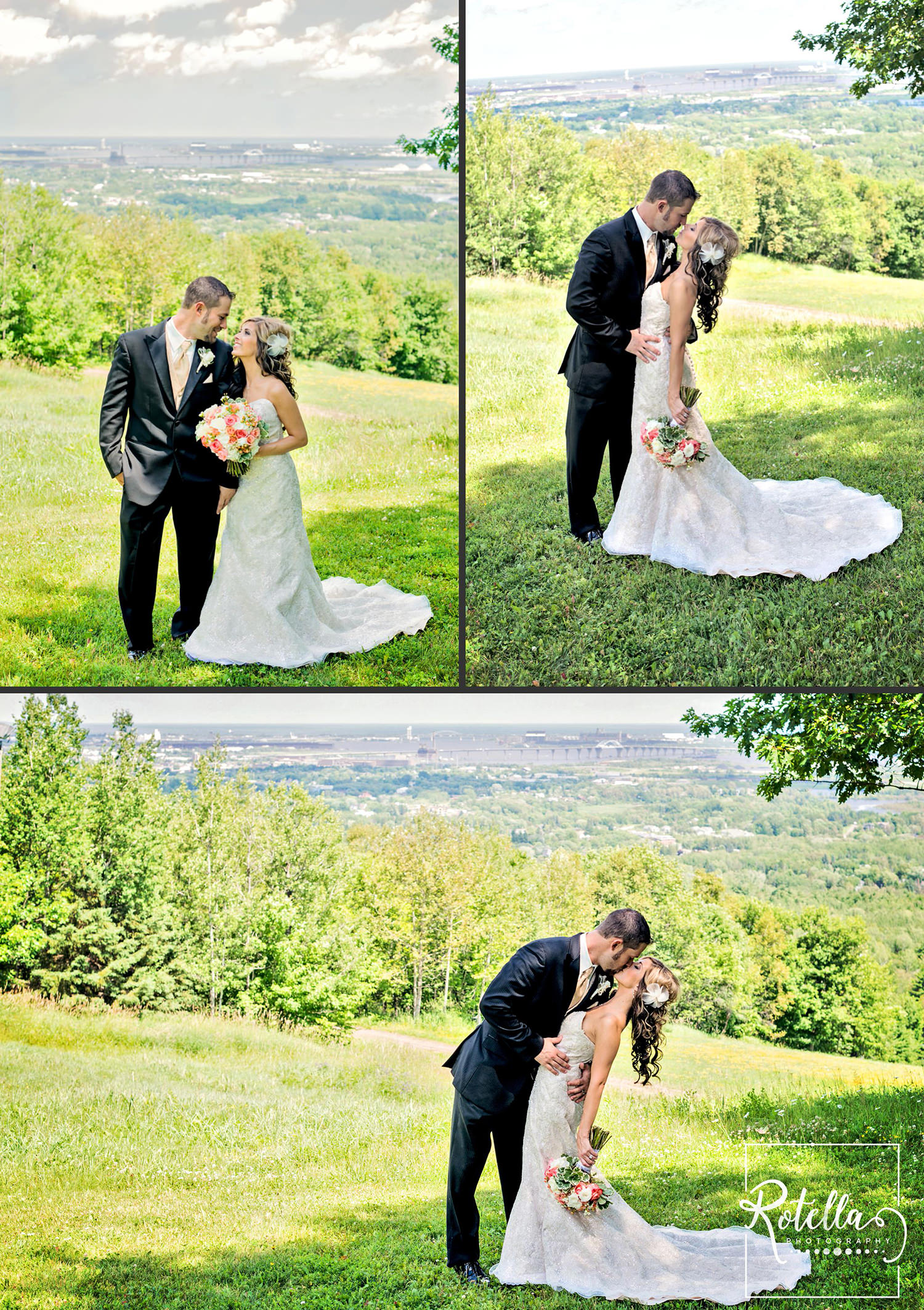 bride and groom portraits in Duluth, mn by Rotella Photography