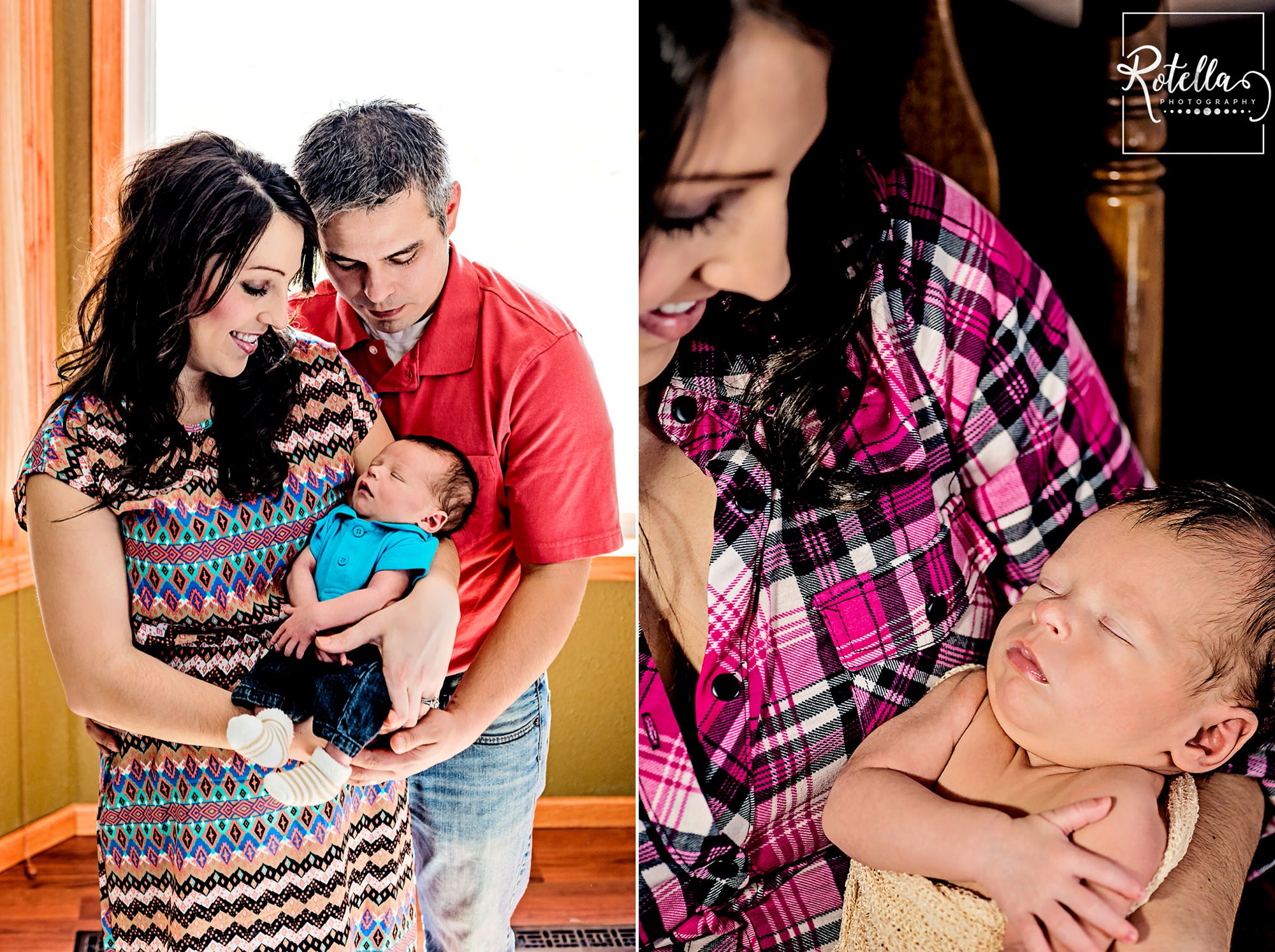 Rotella Photography - newborn baby with parents
