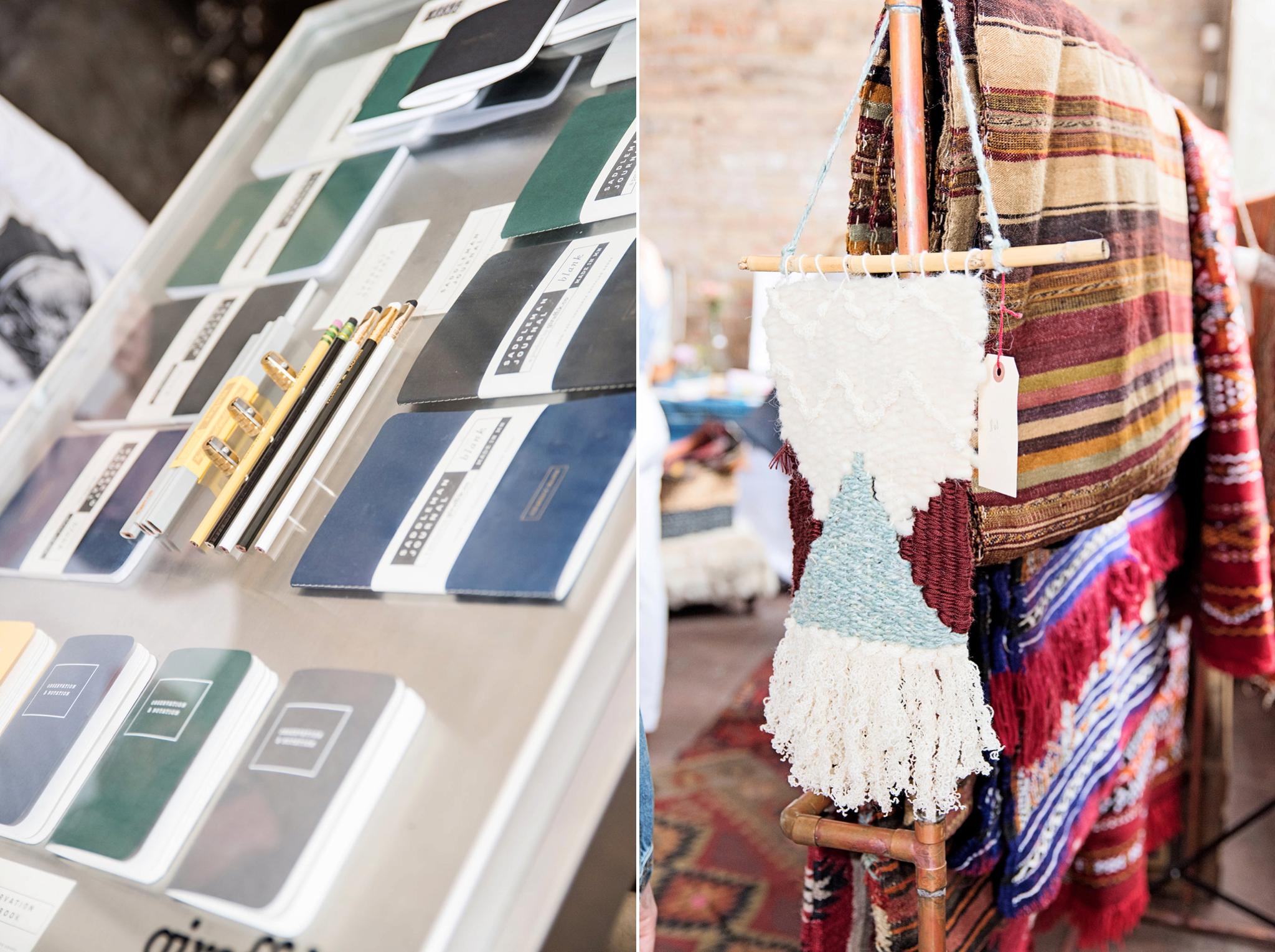 weaving and paper goods