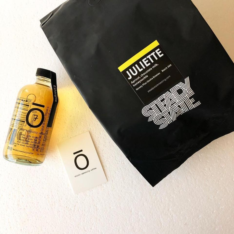 Elixir Specialty Coffee partners with  Steady State Coffee in the month of March to release Elixir made from the delicious Juliette Gesha from  Ninety Plus Coffee .