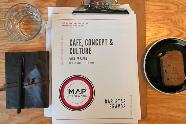 Handout from day 3 of a 3 day MAP IT FORWARD tailored intensive consultation program for Baristas Bravos in Tijuana, Mexico. Photo by  @jimbo250693