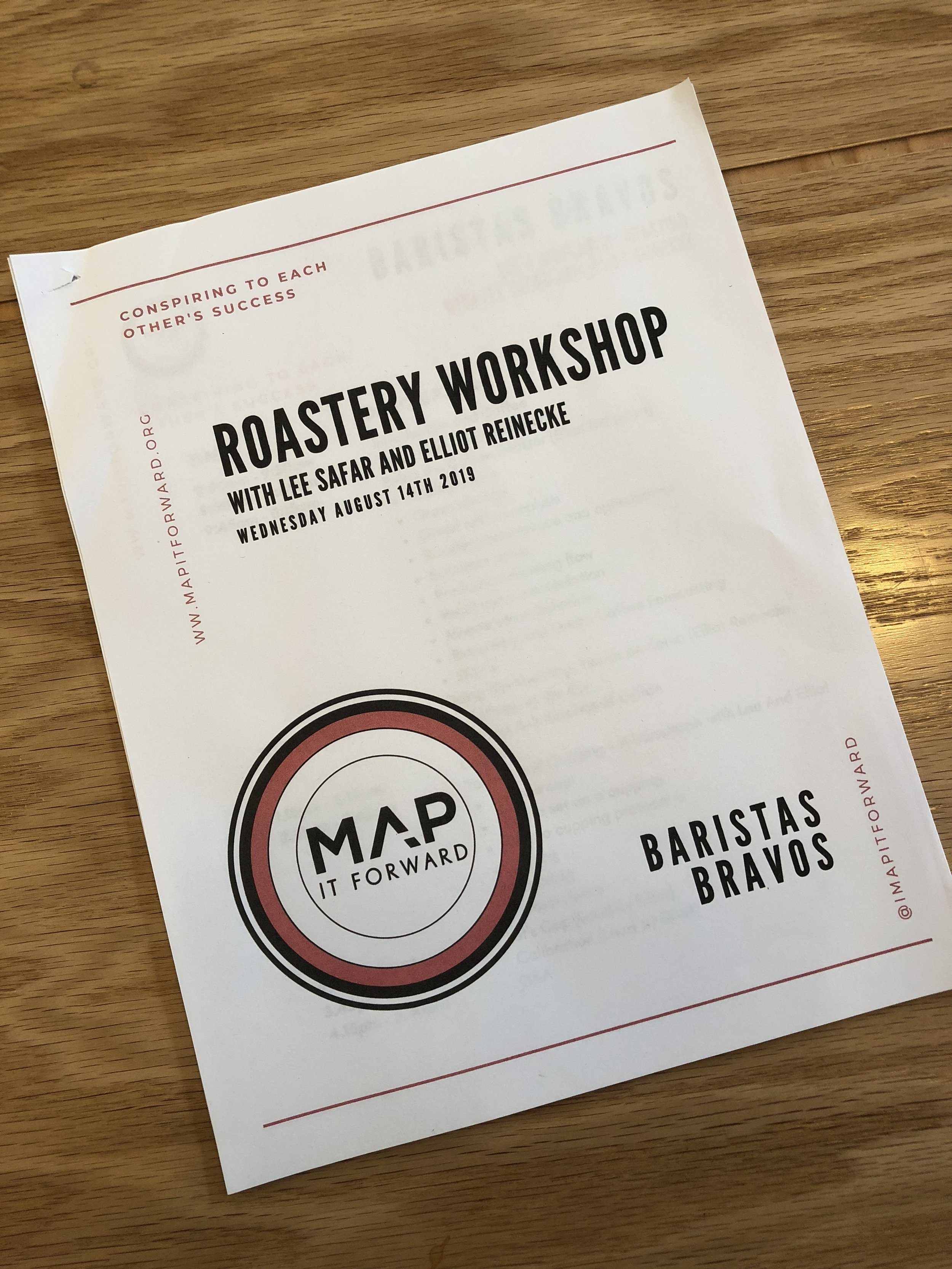 Roastery Workshop: Day 1 of a 3 day MAP IT FORWARD Intensive tailor made consultation program for Baristas Bravos in Tijuana, Mexico in August 2019.