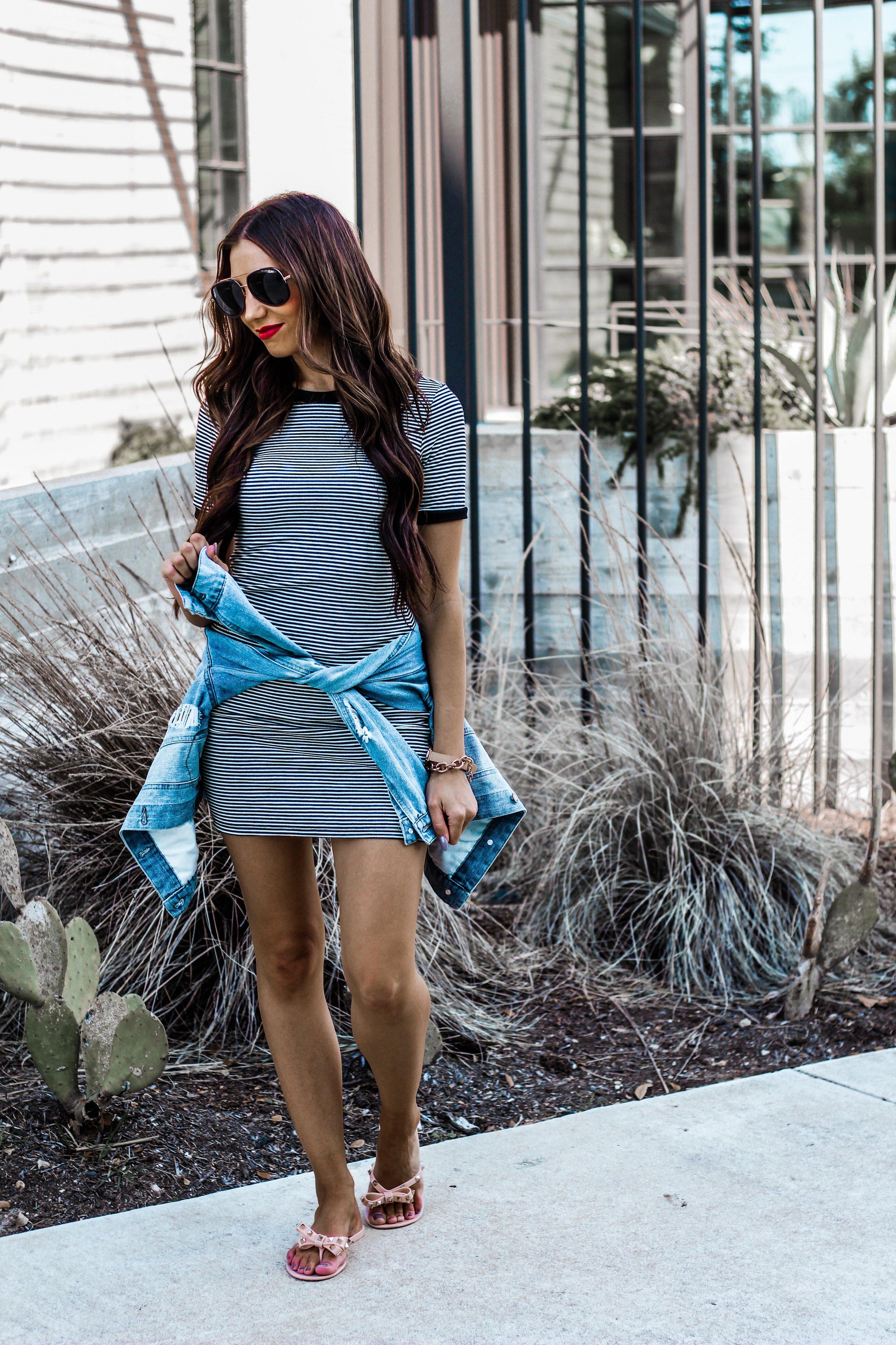 Striped Summer Dress Under 25