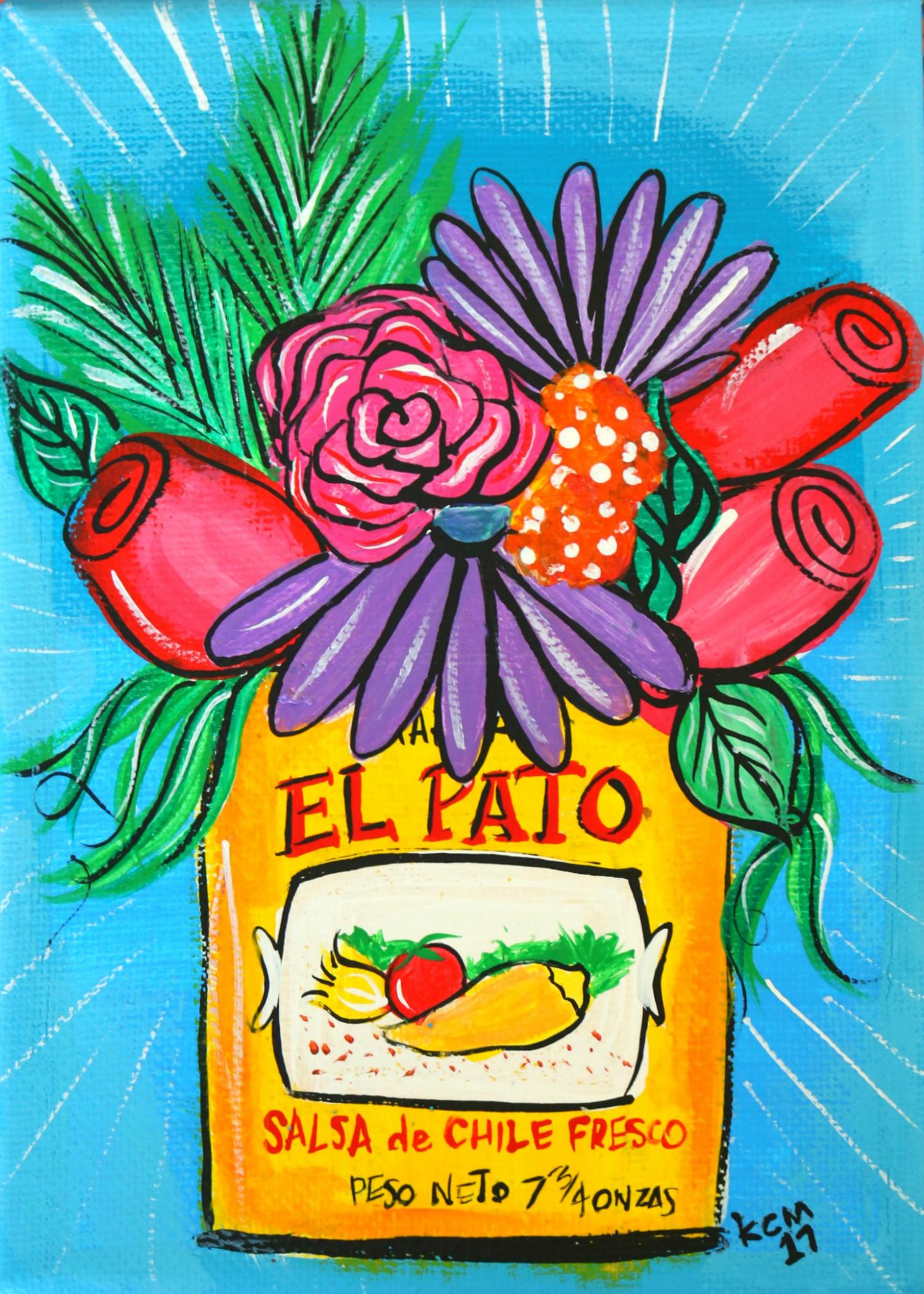 El pato by kathy cano-murillo, acrylic on canvas.
