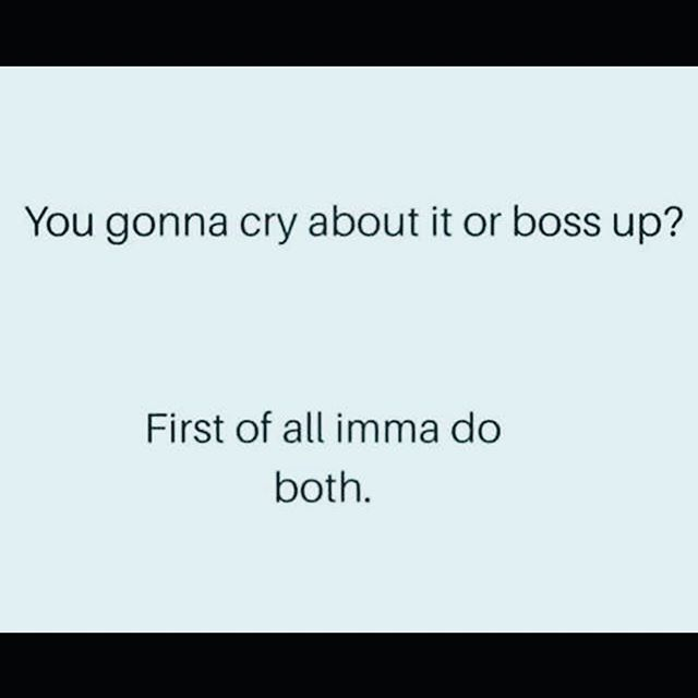 Crying and bossing up aren't mutually exclusive. My ability to cry helps me boss up more. 💪🏼 #mentalhealth #mentalhealthrecovery #trauma #traumarecovery #abuse #abuserecovery #ptsd #cptsd