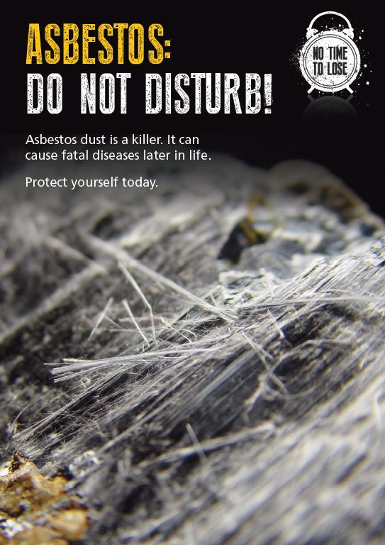 Flyer - Which highlights the health risks of asbestos exposure.