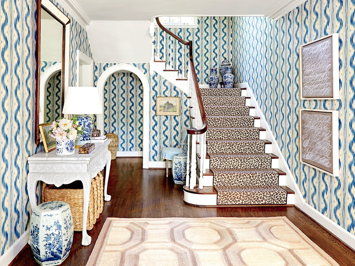 Photo Source:  Southern Living   Talk about making an entrance! Wallpaper in this foyer sets the tone for chic in the home.