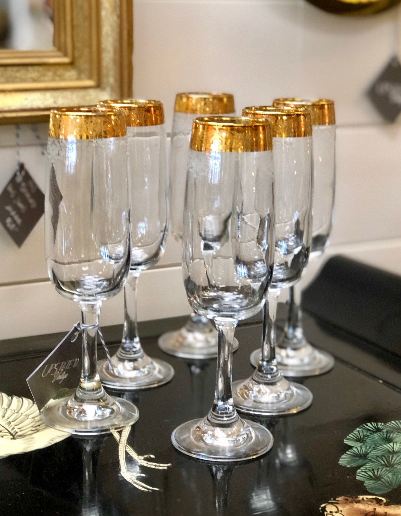 The glamorous way to sip champagne.   Upstated Vintage