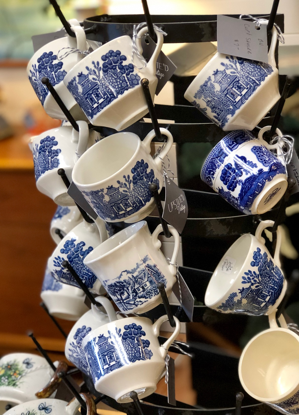 This can create a beautiful blue and white coffee/tea bar.   Upstated Vintage