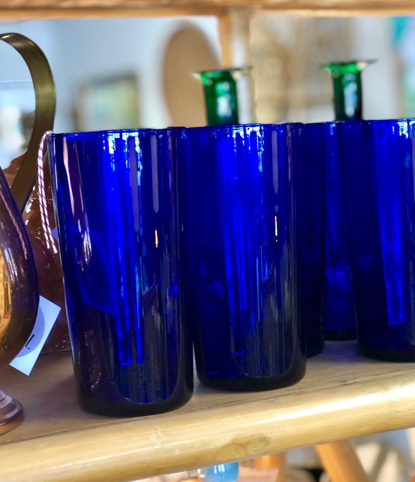 Cobalt blue to go with all the blue and white dinnerware.   Fox Hill Vintage