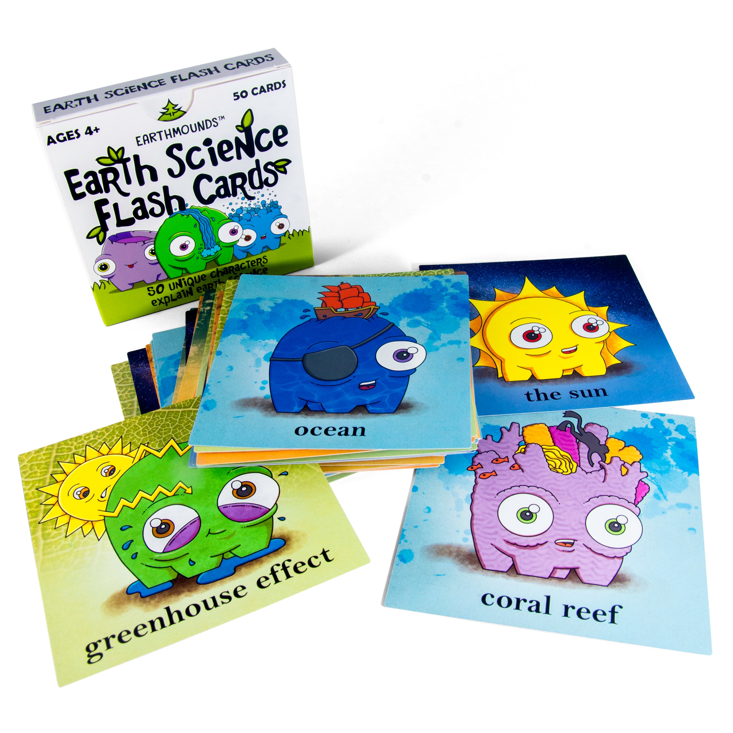 Merchandise - We have a set of 50 educational flashcards on the market, with our second edition set for a Q4 2019 release. Earthmounds characters are ripe for merchandising: collectible Shopkins-style mini figurines, cuddly plushes, and more!