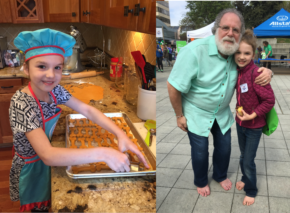 One of our favorite fundraisers, Braelynn who bakes dog treats to raise funds for JOY.