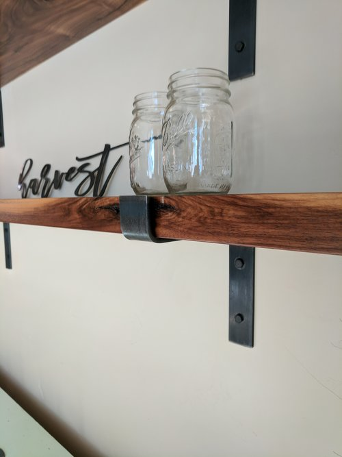 Metal Shelf Brackets, Modern Shelf Bracket, Industrial Shelf, Kitchen Shelf  Bracket, Open Shelf Bracket, EXTRA HEAVY, Handmade, USA, 2\