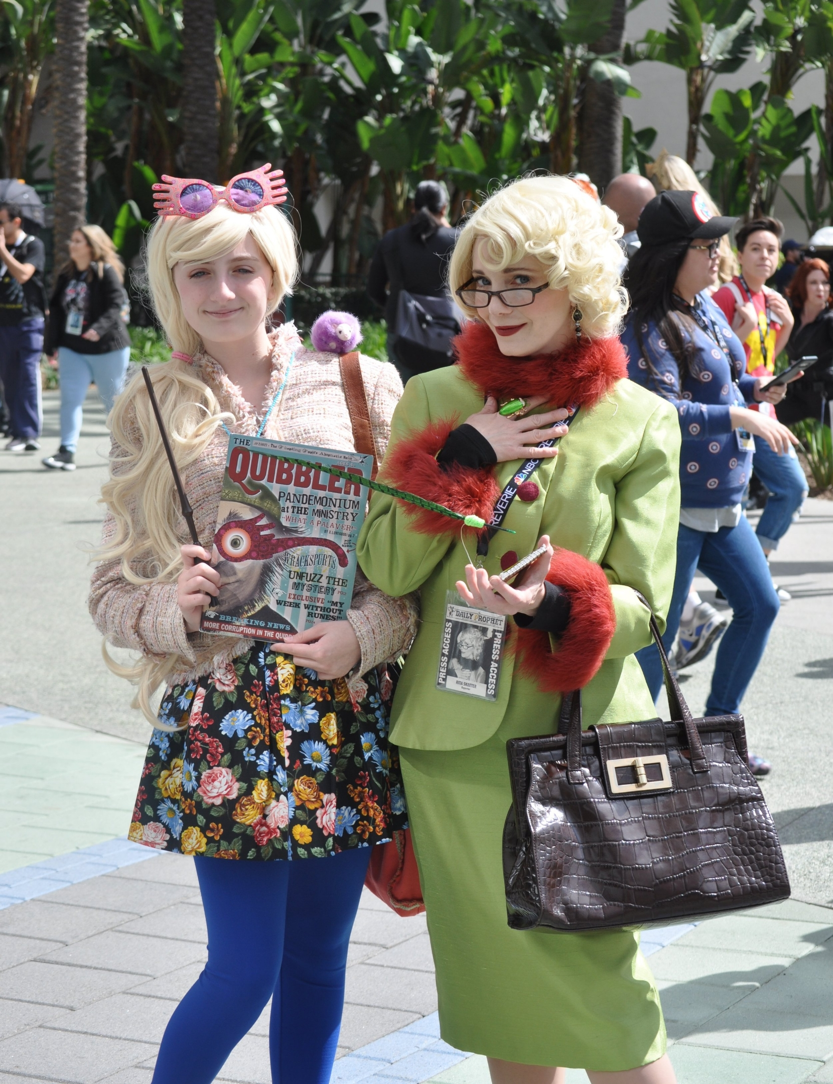 These Luna Lovegood and Rita Skeeter cosplayers are actually mother and daughter, and they hosted a panel about cosplaying with your kids, which was loads fun.
