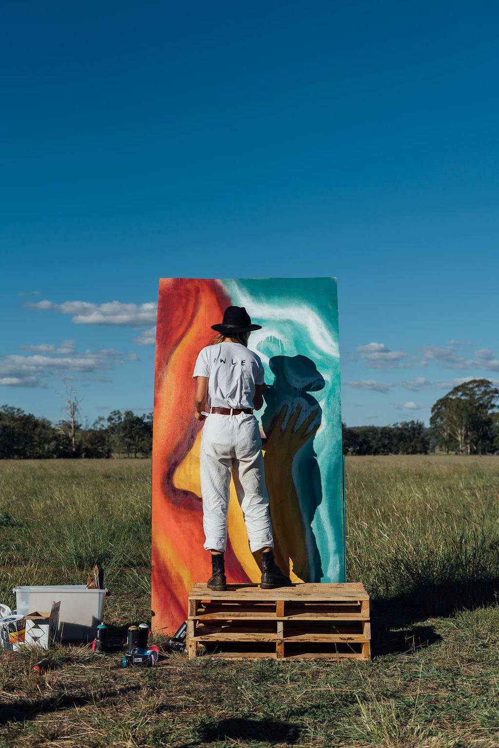 The Art - Some of Queensland's best visual artists were on hand to turn the already beautiful site into a gorgeous outdoor gallery.