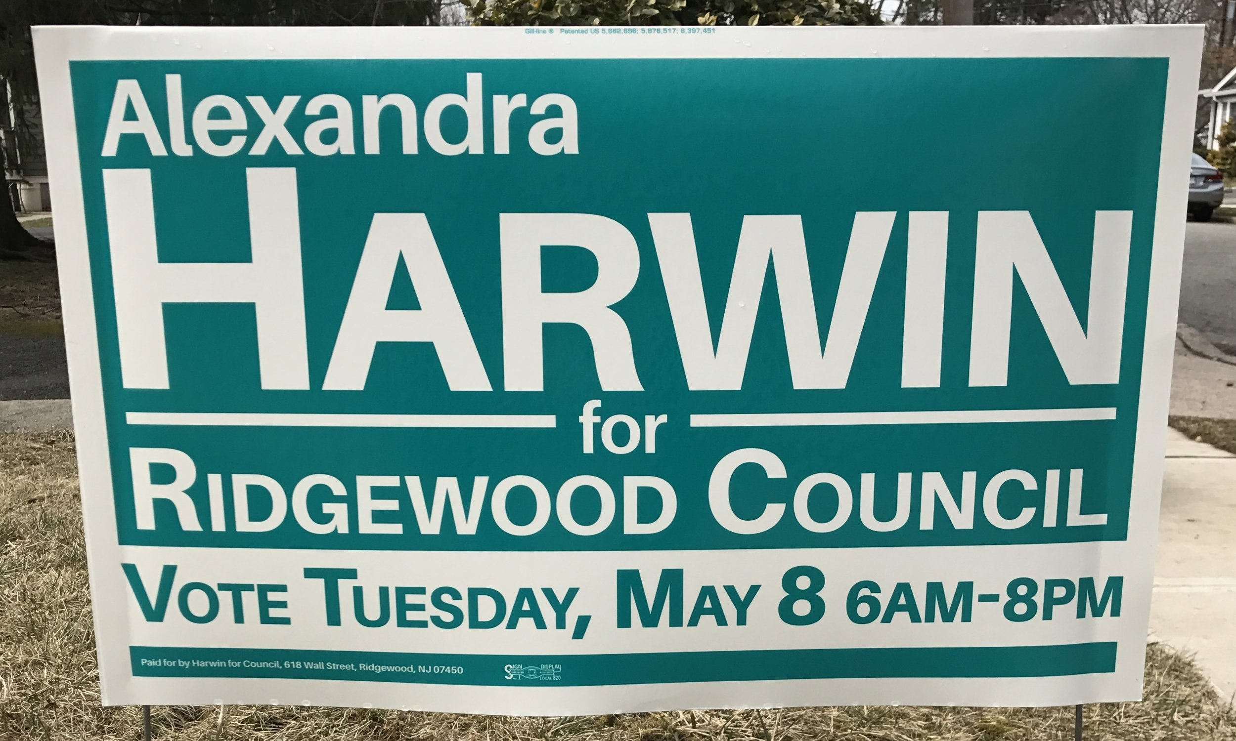Get a Lawn Sign - Be an influencer! Show your support for responsible, inclusive Ridgewood leadership!