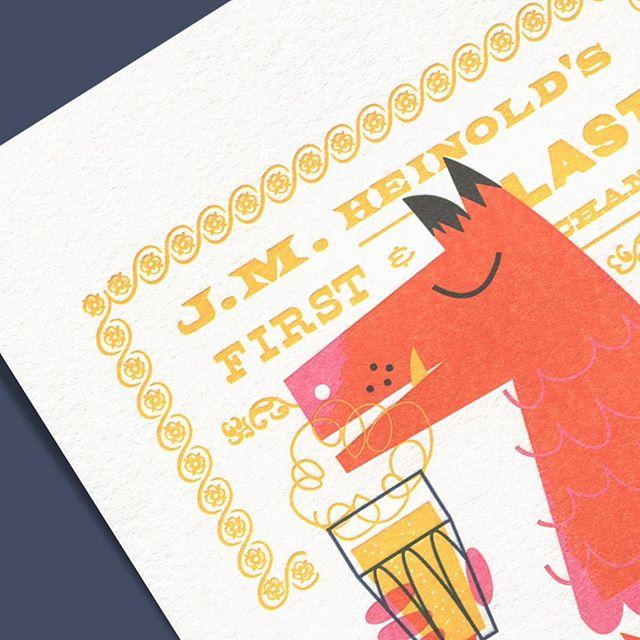 Jack London's Rendezvous details — by @willecke . . . . . #oakland #jacklondon #heinolds #seawolf #letterpress #limitededition #art #print #design #oaklandillustrated #illustration #theweekendpress