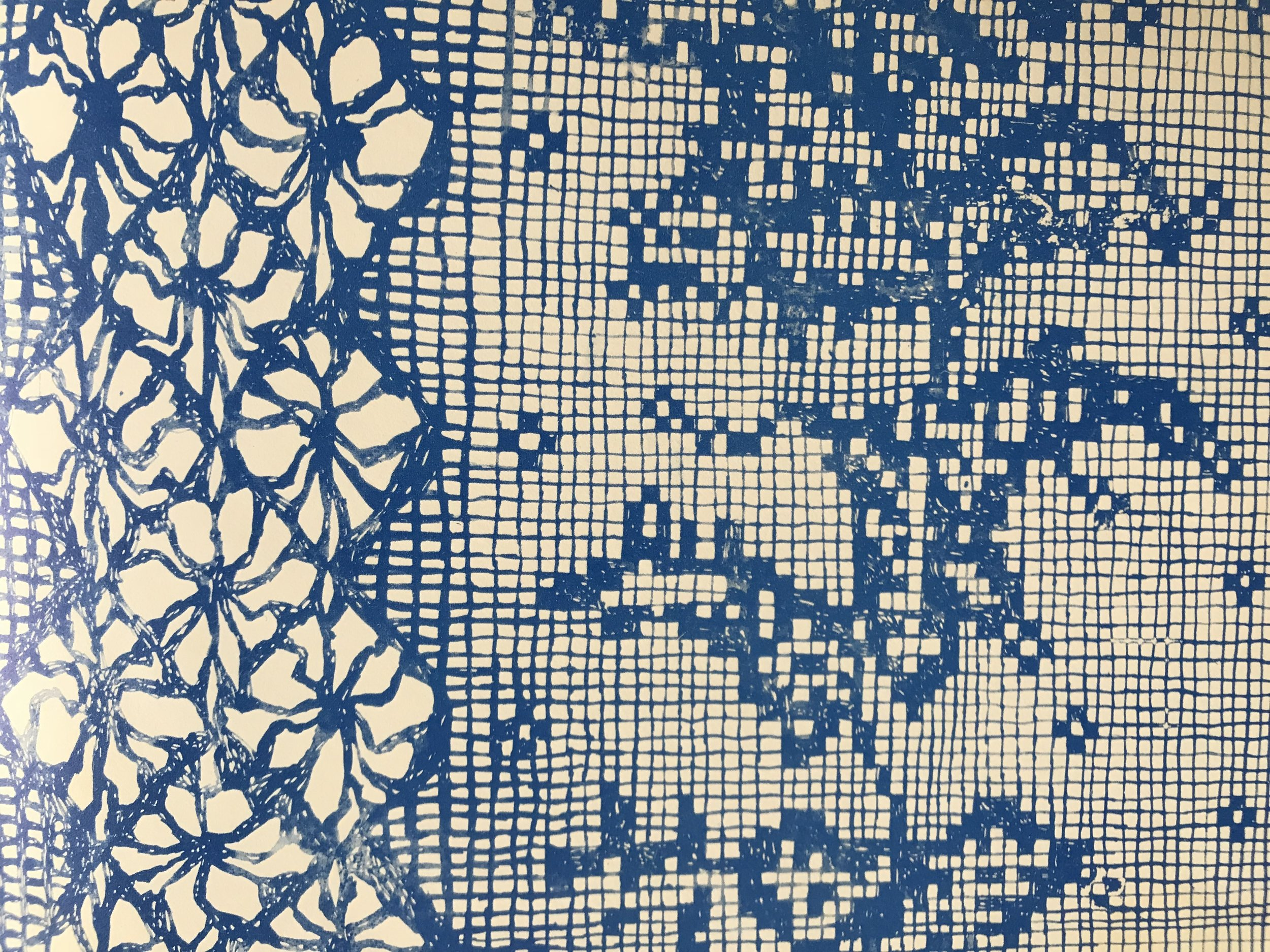 Detail of Charles Keeping's endpaper image for  Through the Window  (OUP 1970)
