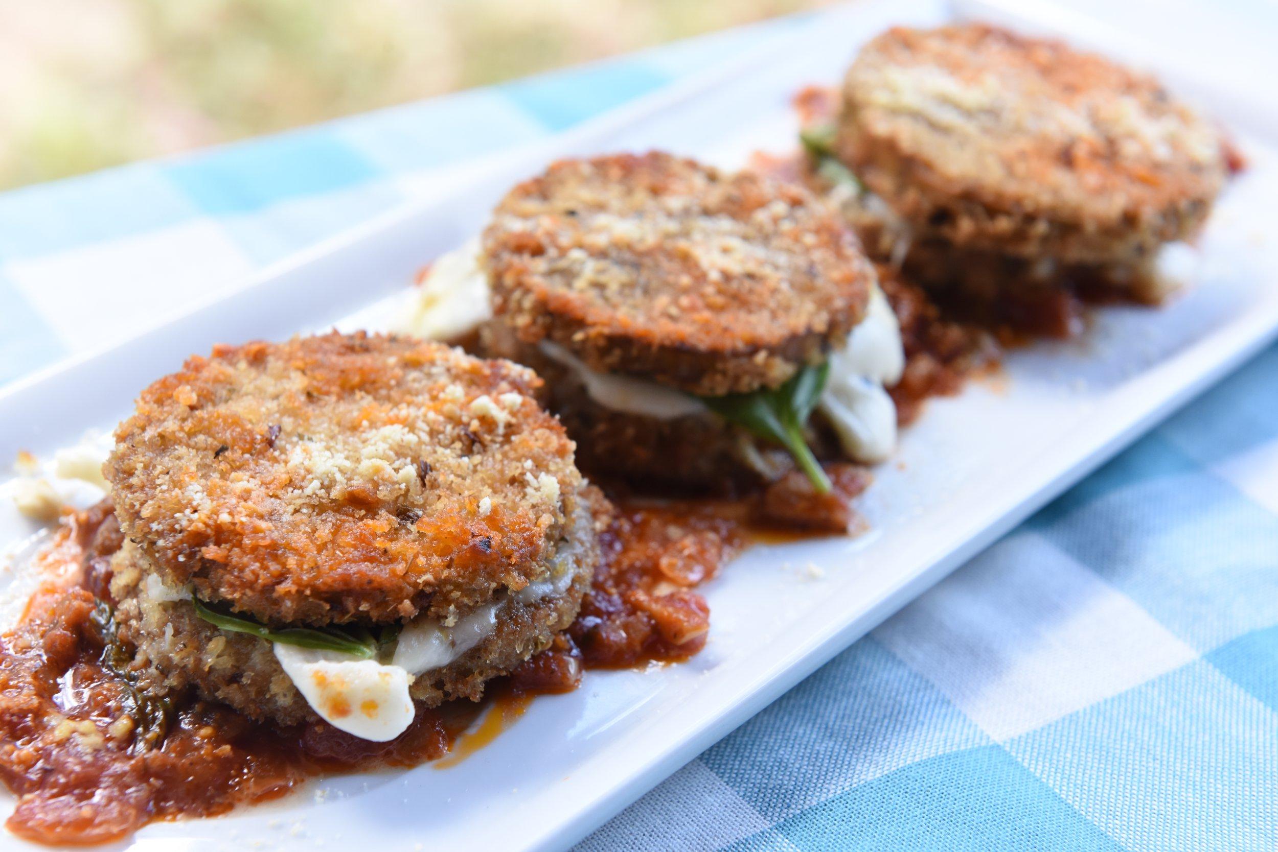 Cooking Vegan with Mario Eggplant Sliders Recipe Photo