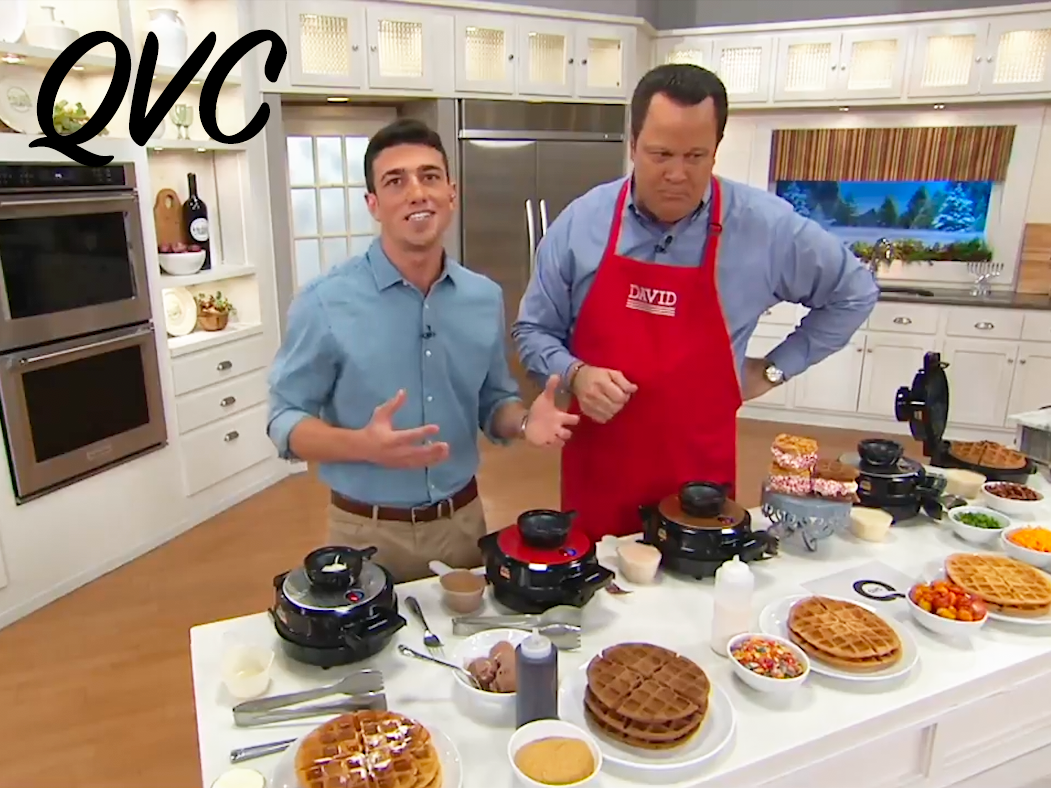 QVC Appearance - Mario demos waffle makers on QVC for sponsor Chefman