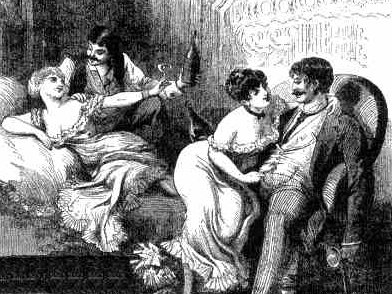 A hypothetical scene of ladies