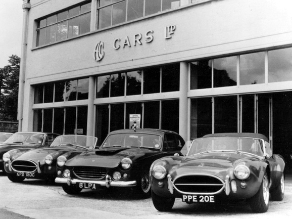 Ac Cobra's outside Ac Cars in Thames Ditton