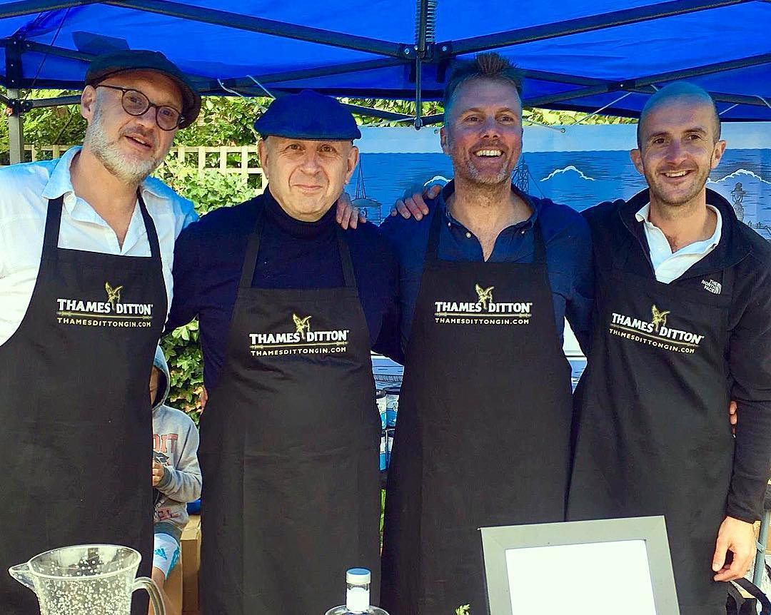 Four of the six founders- from left to right: Andy,Richard, Bede and Gavin, at The Farmers' Market, Thames Ditton on 22 September 2018. Plus Mattias and Tim - not shown.
