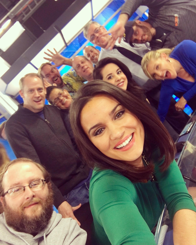 Nicole Brewer & the CBS3 crew!