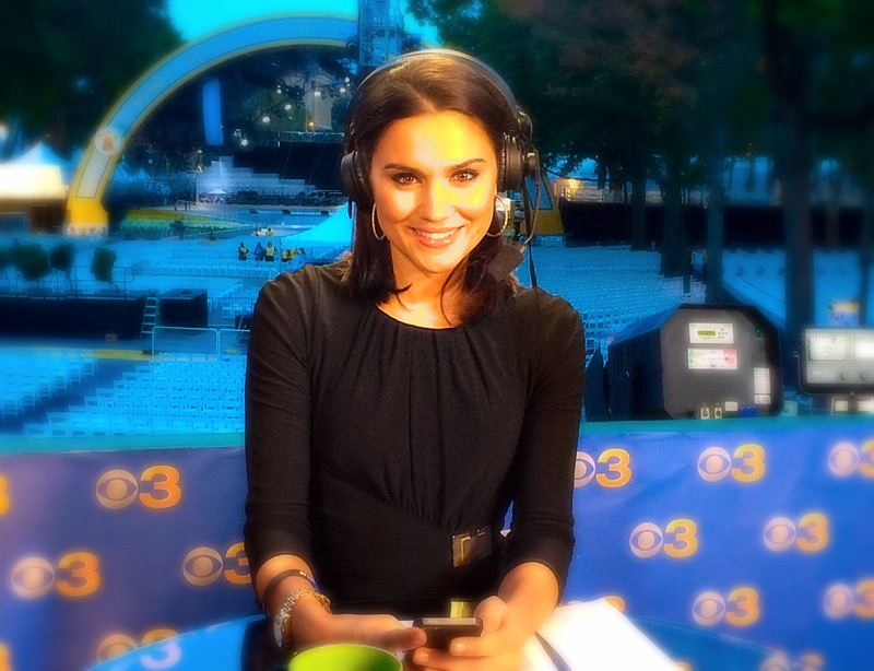 Nicole Brewer anchors live from in front of the papal stage