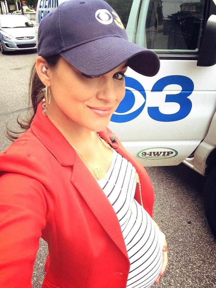 Nicole Brewer 9 months pregnant on the job!