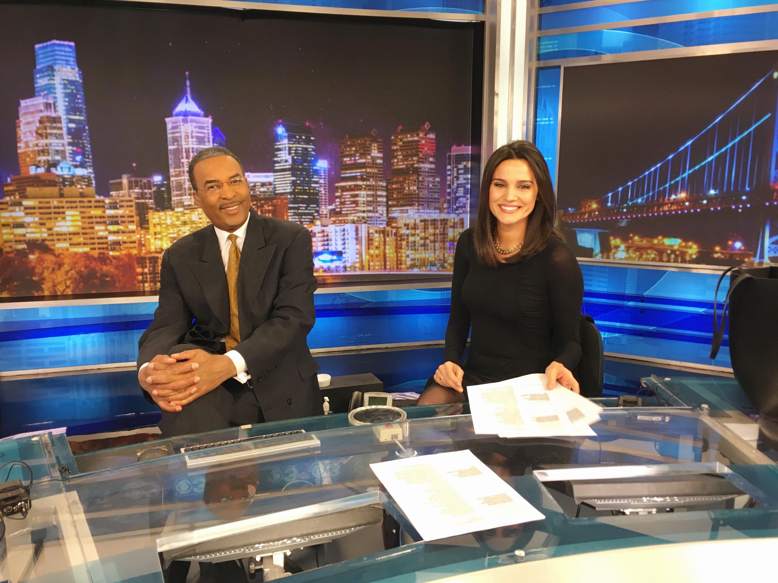 Nicole Brewer anchors alongside Ukee Washington