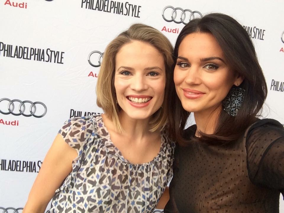 Nicole Brewer smiles alongside friend and former CBS anchor Erika von Tiehl