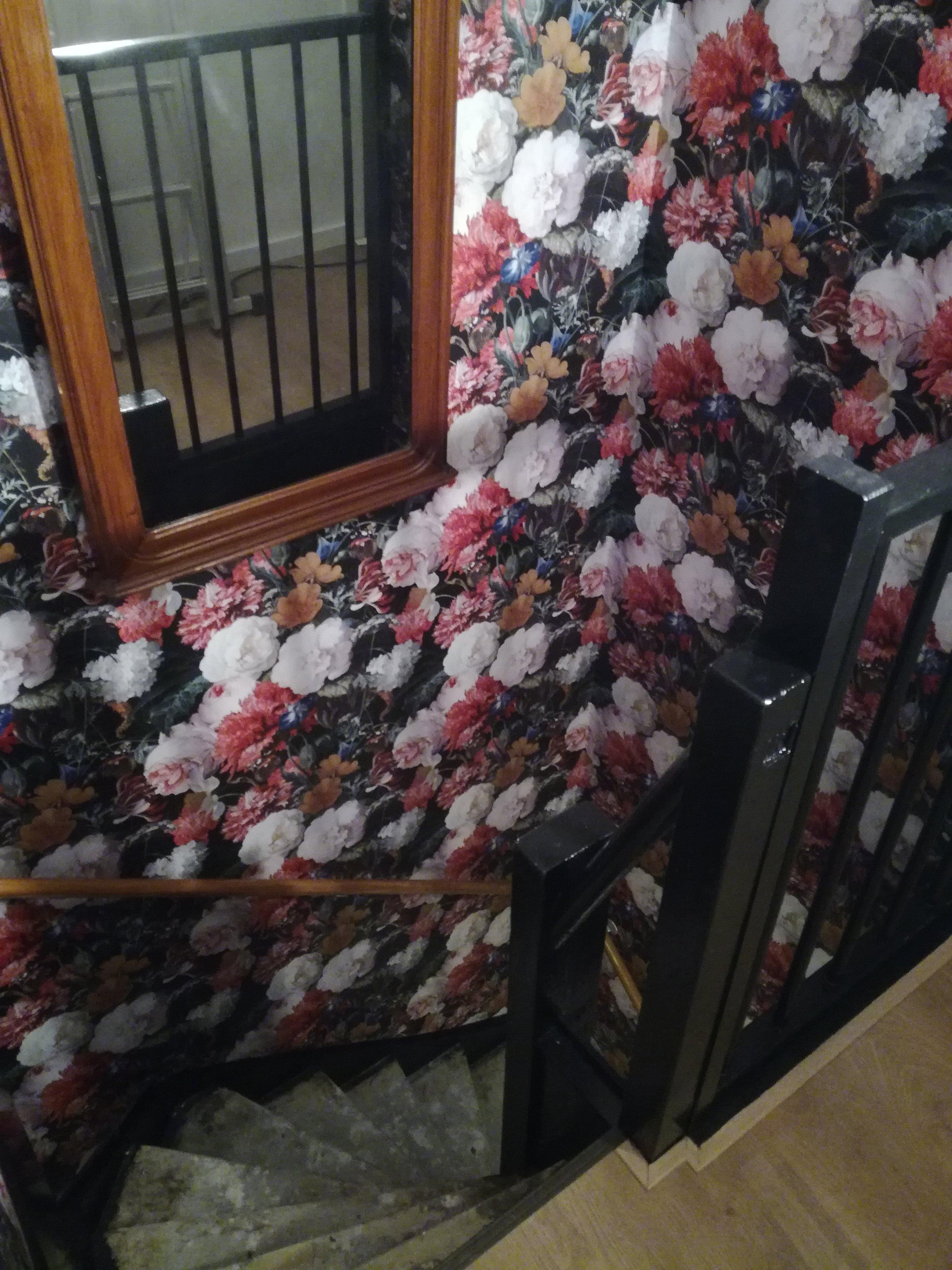 Behangen trapgat