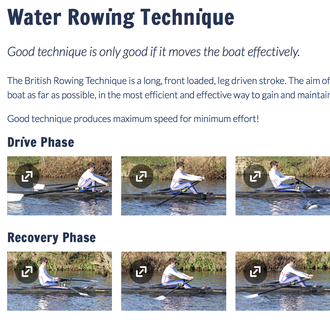 BRITISH ROWING TECHNIQUES