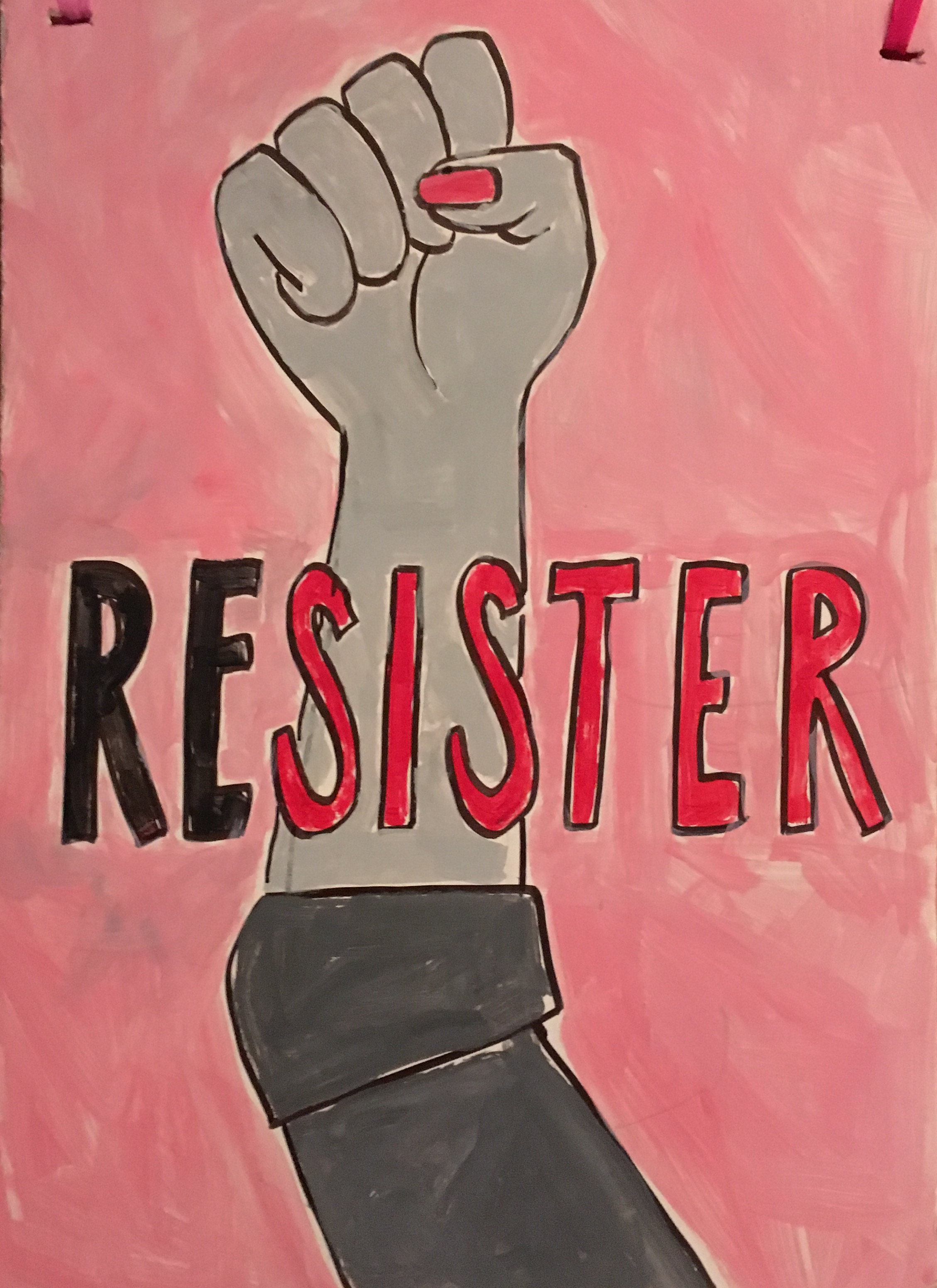 Resister Poster from 2017 Women's March