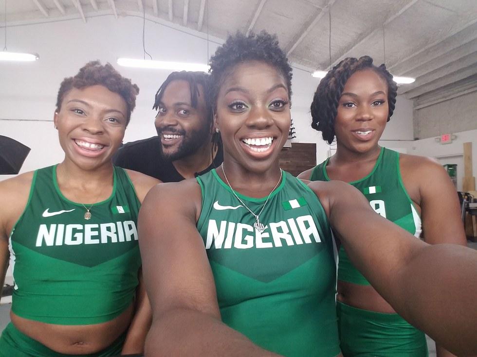 Photo courtesy of Nigerian women's bobsled team