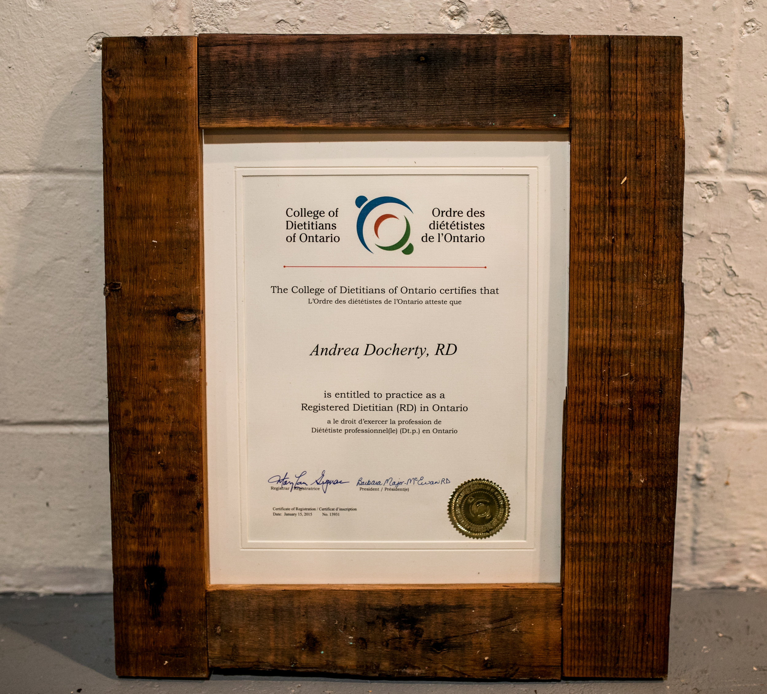 """Anthony created some beautiful custom frames for my diplomas. I was looking for something unique and got exactly that! Anthony listened to want I wanted and provided quick service."" Andrea Docherty"