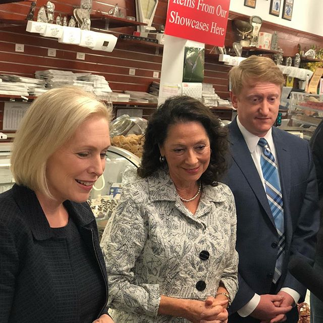 "@kirstengillibrand & I bought some candy & met with employees at @granitestatecandy who want paid family leave to become a reality. It's not a ""vacation"" -- it's being with loved ones when they need us most. I'll make paid family leave a reality for Granite Staters."