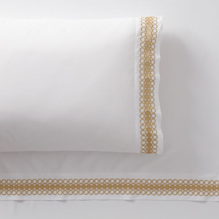Lilly Pulitzer Organic Embroidered Trim Sheet Set - $149.