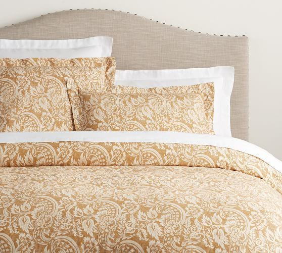 Alessandra Scroll Duvet - Gold - $149.