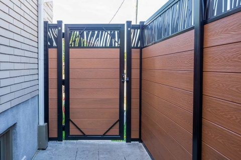 Beautiful Adjustable Gates - our gates match all colors of our boards
