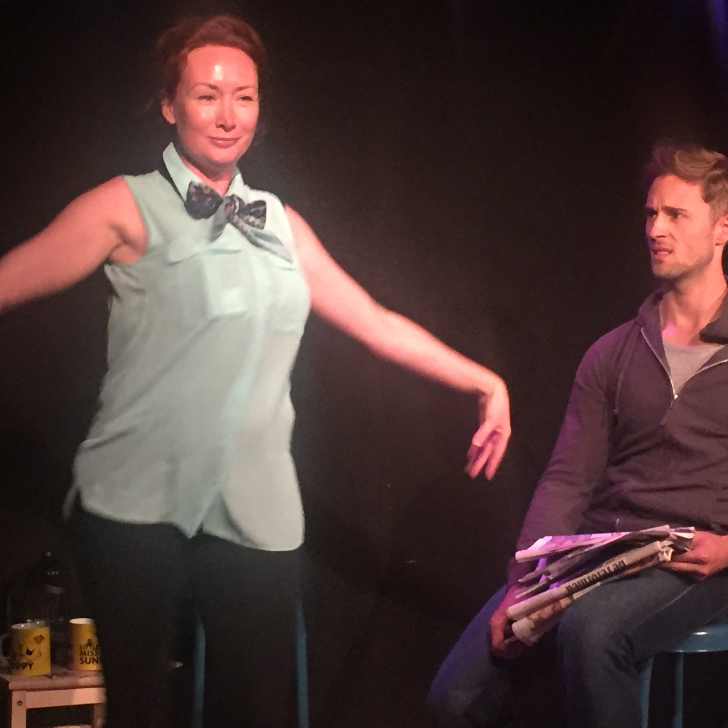 helen rose-hampton and samuel curry in the d-list, edinburgh fringe 2016.
