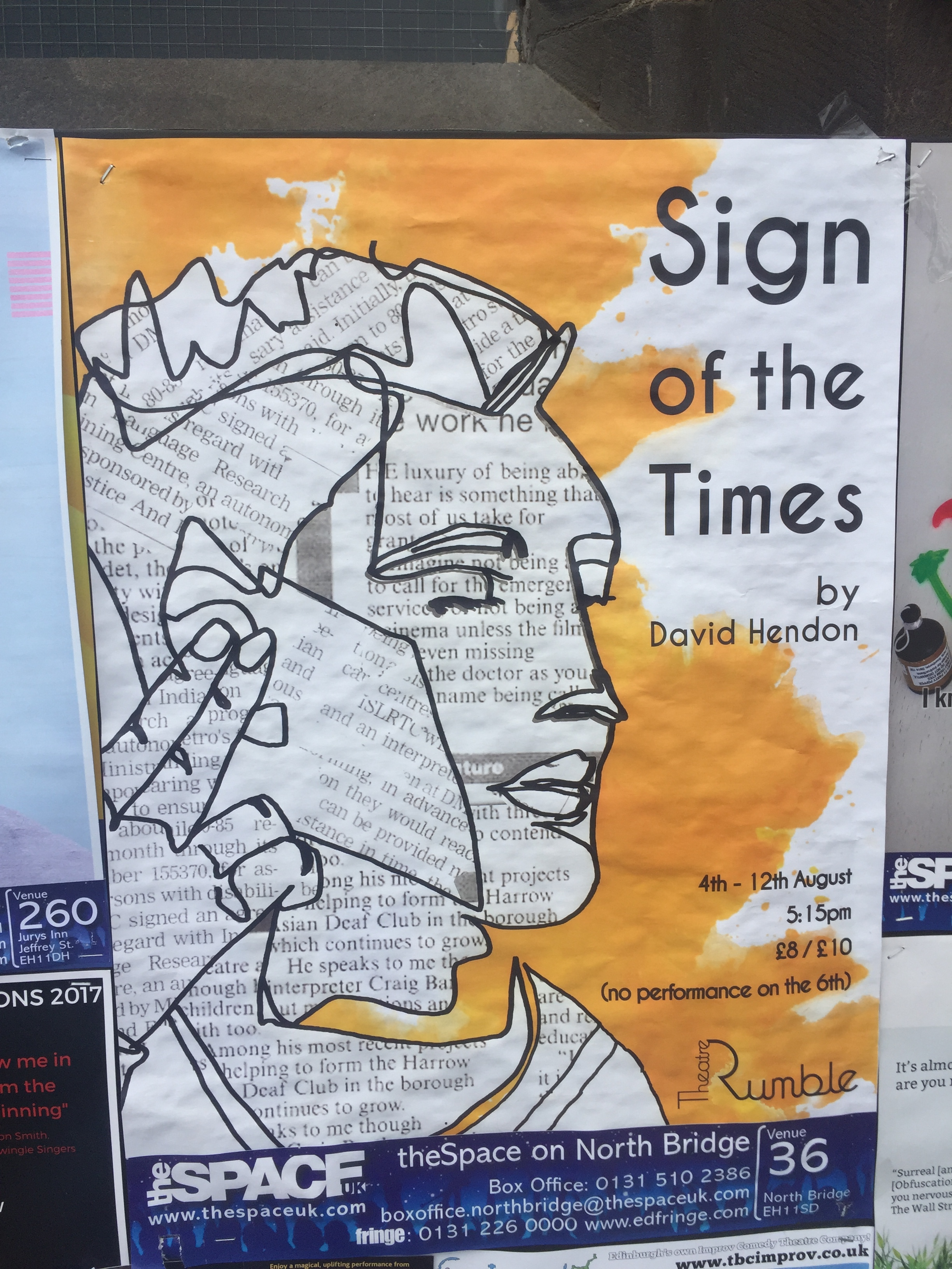 poster for sign of the times at edinburgh fringe 2017