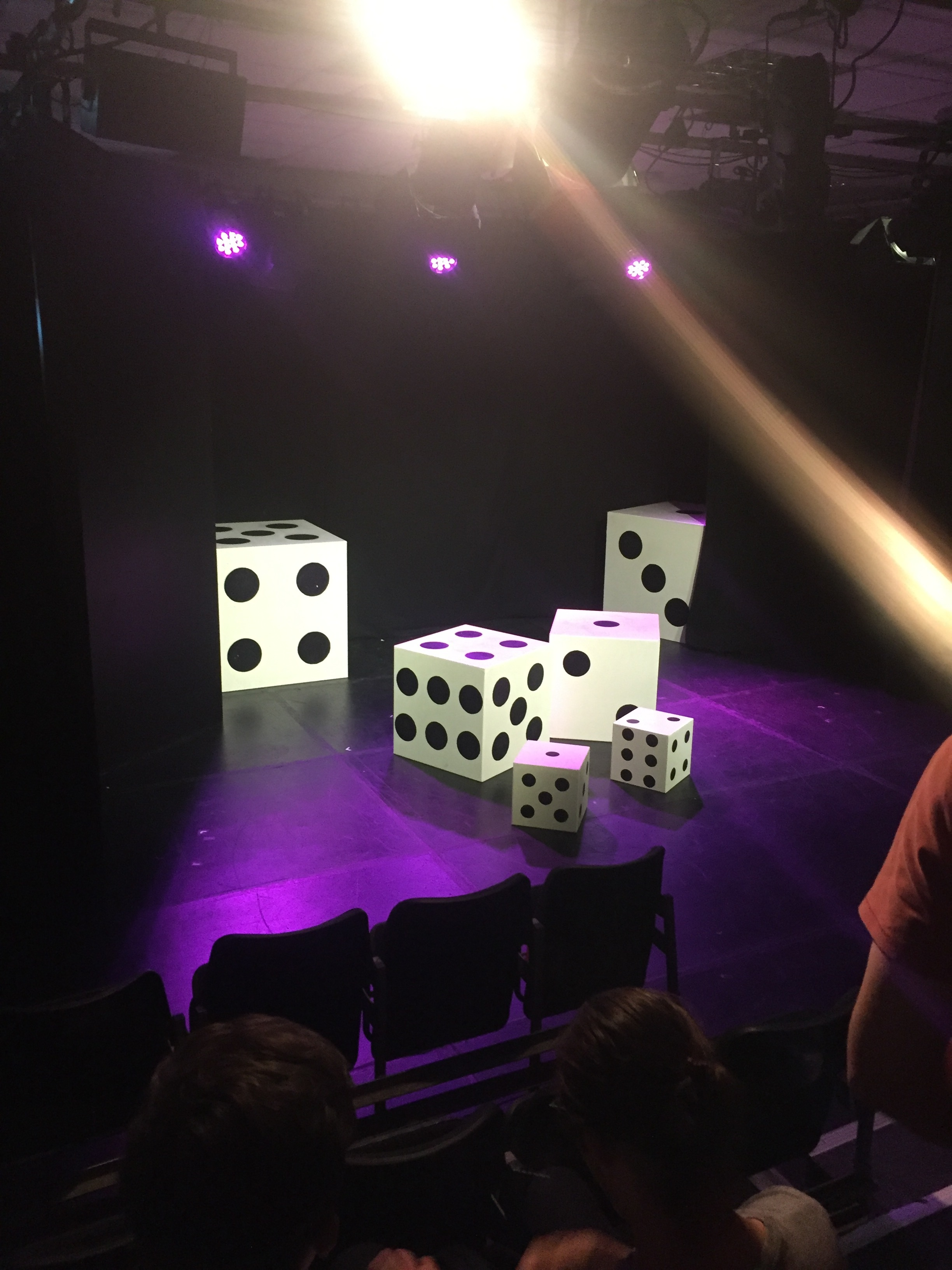 the stage is set for red or blue? at edinburgh fringe 2017
