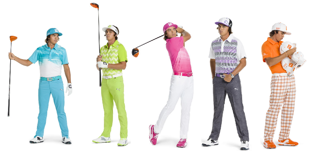 Just some of Rickie Fowler's interesting outfits.