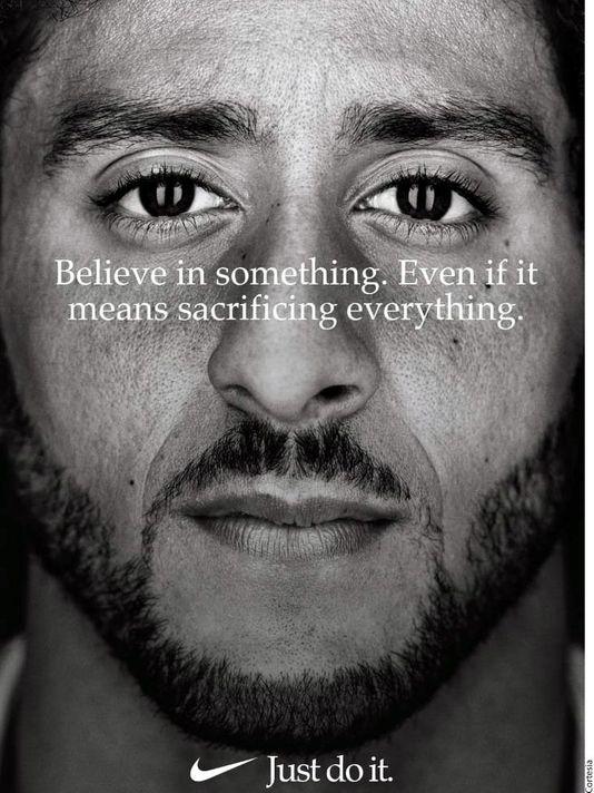 Nike's Advertisement feating Colin Kaepernick.
