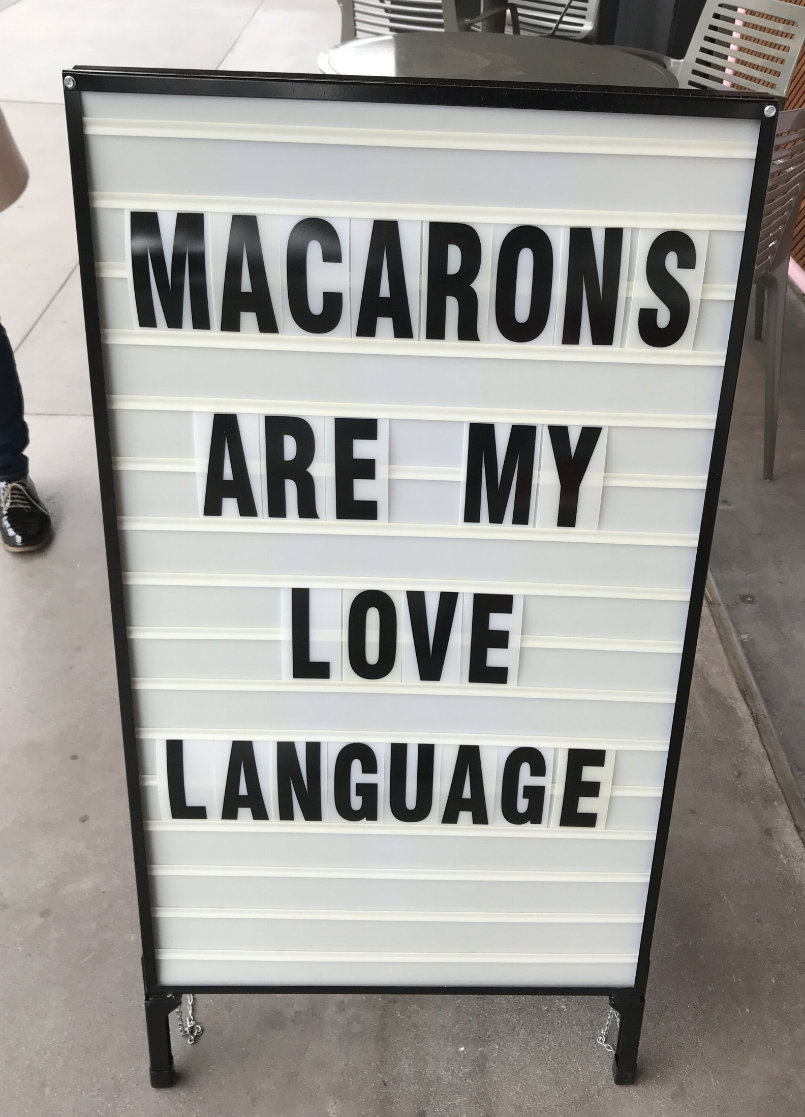 Sign outside the store