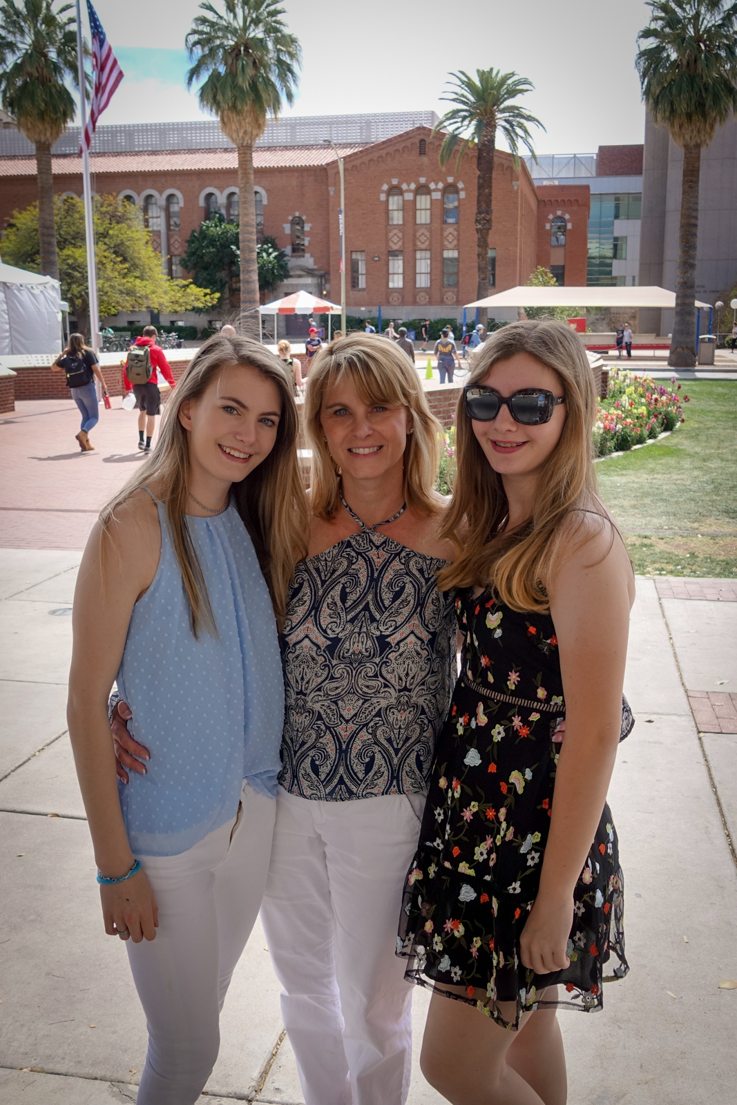This is me, my mom and my sister at the University of Arizona.