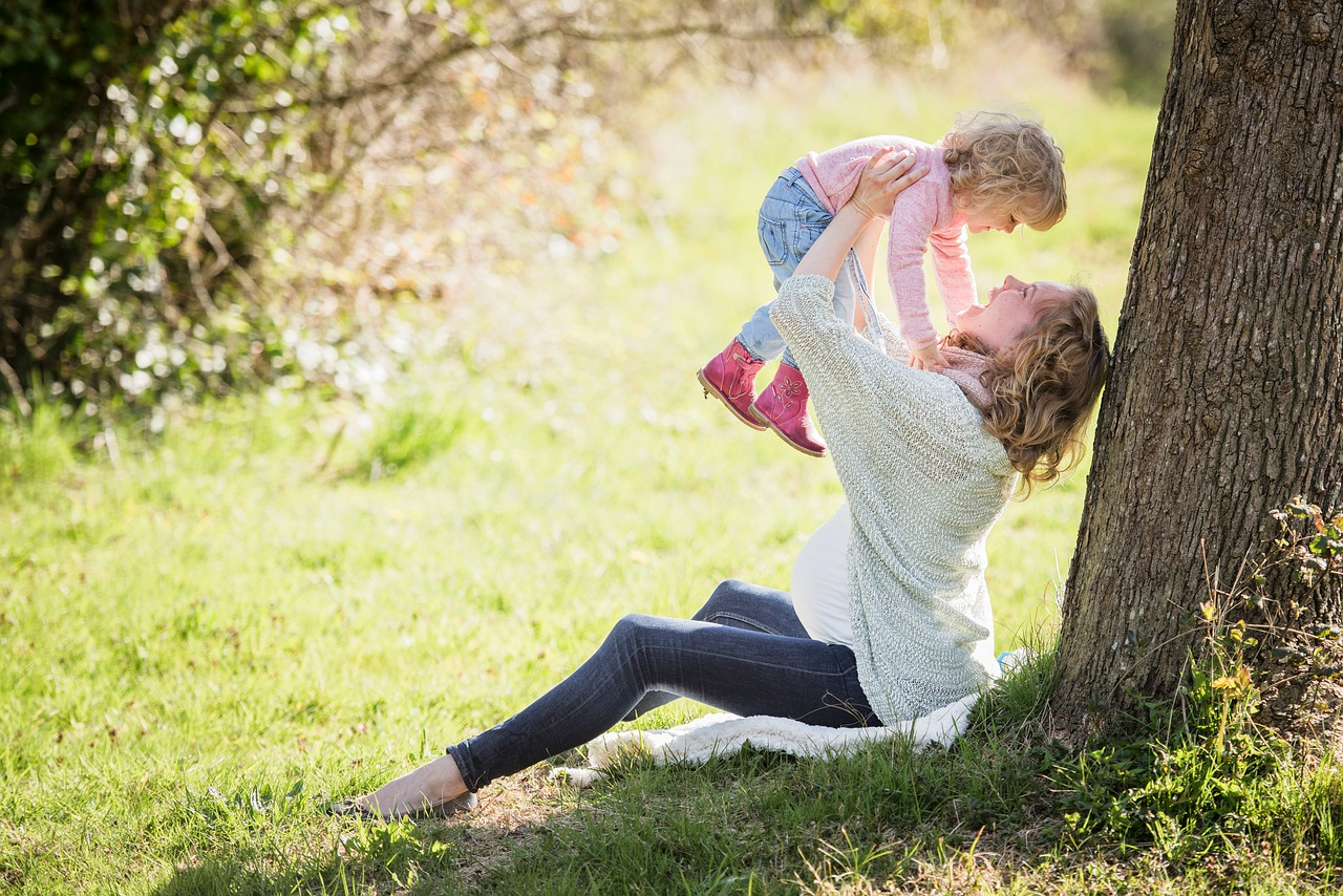 Woman practicing self-care for Christian moms